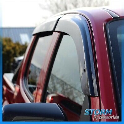 D006- Isuzu D-Max 2012-2018 D-Cab Stx Wind Deflectors External Quad Set - Black