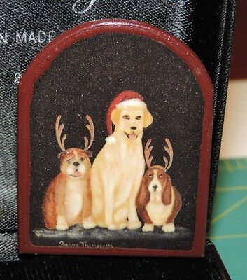 Adorable Dog Canine Christmas Brooch Pin Golden Bulldog Basset Hound 1b 51
