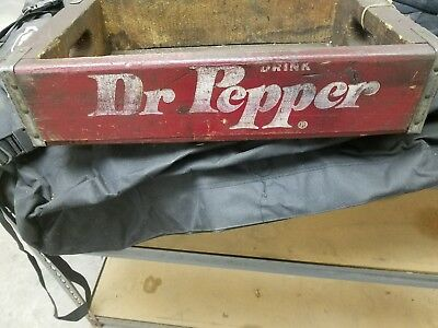 Dr. pepper antique wooden crate
