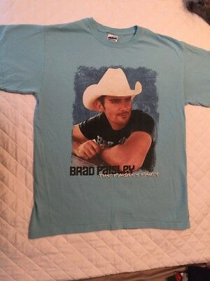 "Brad Paisley Vintage Tshirt ""The Paisley Party"" Concert Tour '08-'09 Medium Used"