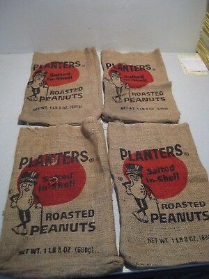Lot Of 4(Four) Planters Salted In Shell Roasted Peanut Bags 1Lb 8 Oz Lot Of 4