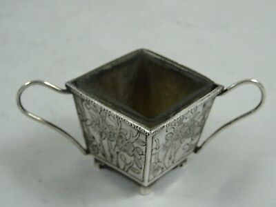CHINESE EXPORT solid silver SALT, c1900, 26gm