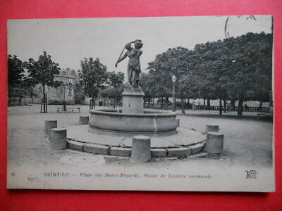 SAINT-LO  :  La Place des Beaux-Regards.......VO.1907.