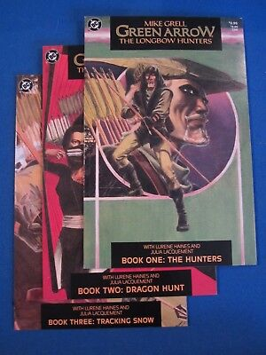 Green Arrow The Longbow Hunters (1987) #1-3 Set 1st Prints Mike Grell Comic Lot