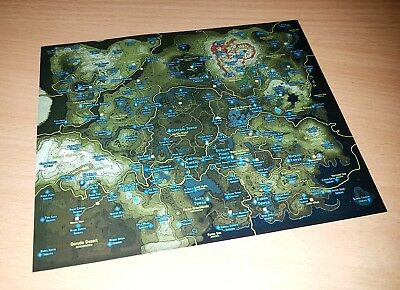 The Legend of Zelda: Breath of the Wild / Hyrule Map Nintendo Switch - Free P&P