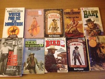 Western Cowboy Books 10 Various Westerns See Photos For Titles & Authors Lot 1
