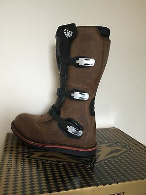 WULF Wulfsport TRIALS Boots UK Size 10   Brown 44 Adventure Off Road Enduro
