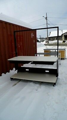 "31"" X 72"" X 79"" Laminate Top Lab Work Bench/table, Lower Shelf, Keyboard Pullout"