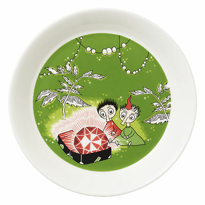 Moomin Plate Thingumy and Bob and the King's Ruby Green 17 cm Arabia New 2018