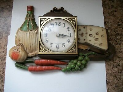 Vintage Burwood Producks Co. New Haven Clock 460-1 Works