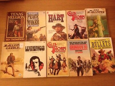 Western Cowboy Books 10 Various Westerns See Photos For Titles & Authors Lot 2