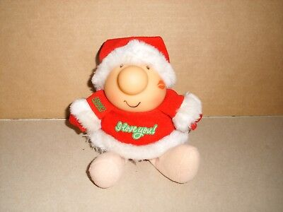 I Love You Christmas Ziggy Plush Doll With Vinyl Head 1987 American Greetings