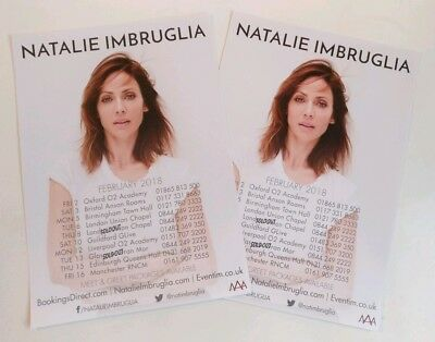 Natalie Imbruglia UK Tour 2018 Flyer x 2