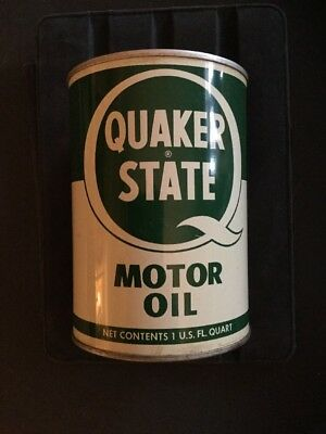 Vintage Unopened Quaker State Motor Oil Can Sae 30