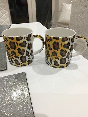 LOVELY VINTAGE PAUL CARDEW PANTHERA PARDUS LEOPARD 2 Mugs/cups