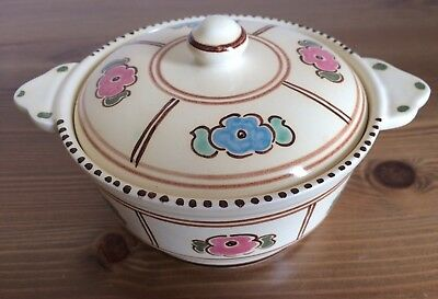 Pretty, Honiton Pottery, Devon, Lidded Trinket Dish, VGC