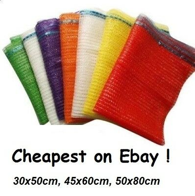 1000 2000 Net Bags with Drawstrings Logs Wood Sacks Mesh Kindling Veg Carrot