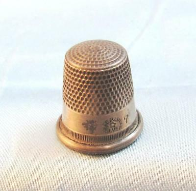 Antique Sterling Silver Sewing Thimble S7 Star Hallmark