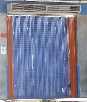 PVC Strip Curtain Door 8'w x 10'h Plastic Strips. Dock Door Strip Curtains New.