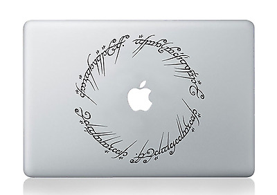 Lord of the Rings One Ring Decal Elvish Hobbit Apple Macbook PC Vinyl Sticker