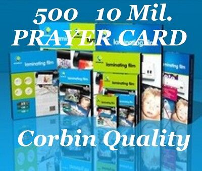 Ultra Clear Laminating Pouches Sheets Prayer Card 500 10 Mil 2-3/4 x 4-1/2 CQ