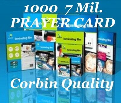 Ultra Clear Laminating Pouches Sheets Prayer Card 1000 7 Mil 2-3/4 x 4-1/2 CQ