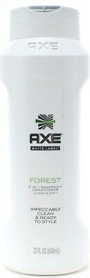 Axe White Label Forest 2 In 1 Shampoo And Conditioner Clean & Soft 22oz Bottle