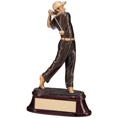 The Monument Heavy Resin Golf Figure Trophies Awards 2 sizes FREE Engraving