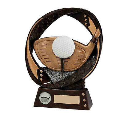 Typhoon Resin Golf Trophies Driver Awards 3 sizes FREE Engraving