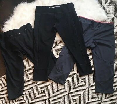 Yoga Leggings Capris Lot of 3 Nike Dri Fit Addidas MPG Size L Large