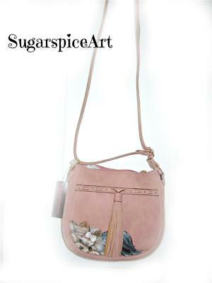 Yorkie Hand Painted Spring Handbag Purse by SugarspiceArt