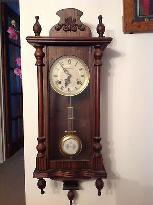 #Antique Single Weight Wall Clock.