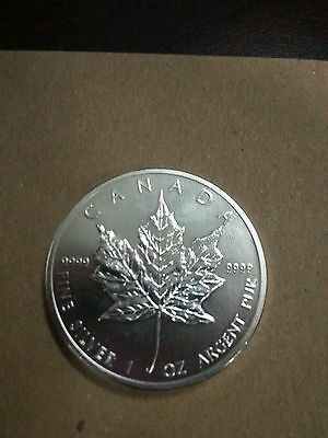 2011 CANADA MAPLE LEAF 5 DOLLAR PROOF SILVER .9999 1 OZ COIN  = Total of 2 Coins