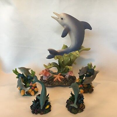 Dolphin Figurines Set of 5 Collectibles