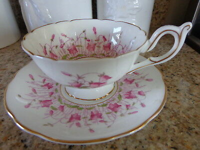 "Coalport Bone China ""Harebell"" AD 1750 Cup & Saucer"