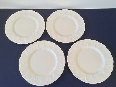 "Coalport Countryware Set 4 Dinner Plates Cabbage Leaf Bone China 10.75"" England"