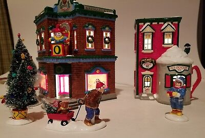 """Department 56...snow Villages. W/accessories...""""saturday Morning Downtown""""...new"""
