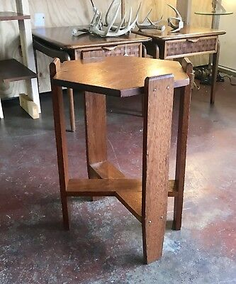 Mission Arts and Crafts Hexagonal Side Table Stickley Roycroft Era