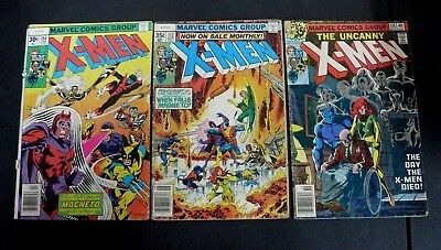 X-MEN LOT OF 3 COMICS, 104,113,114 FR/GD LOW GRADE 1st app STAR JAMMERS!