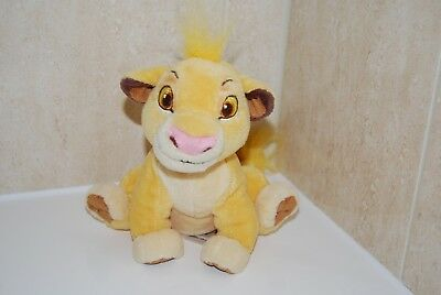 """Disney Store Official The Lion King Simba Cuddly Plush Toy 8"""""""