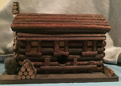 Home Interiors and Gifts *Vintage * Wooden Log Cabin - Storage, decor