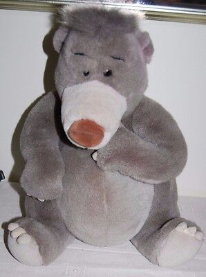 "Large 16"" Jungle Book Baloo Cuddly Plush Toy - Walt Disney World"