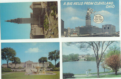 Cleveland OH Lot of 4 Vintage Postcards - Ohio