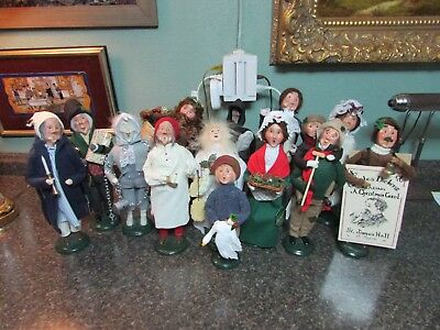 Byers Choice Scrooge A Christmas Carol Lot Of 13 Figurines With Hang Tags 88-04