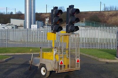 Pair of Hollco Radioconnect Traffic Lights & Trailer.  PLUS VAT.