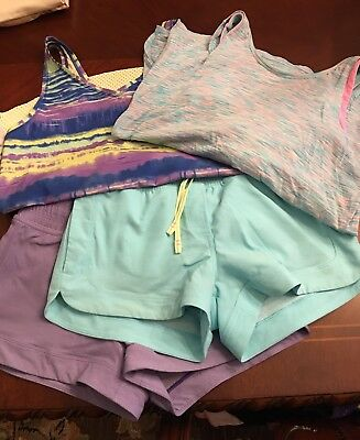 Ivivva By Lululemon Lot Of 4 Tank Tops & Shorts Outfits 12 EUC