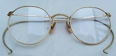 Antique Vintage American Optical GOLD FILLED EYEGLASSES Round Rims