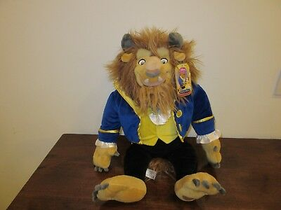 Disney Store Beast from 'Beauty and the Beast' Soft Toy - NEW with Tag - 18""