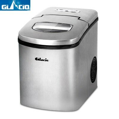NEW Portable Ice Maker Machine Fast Bullet Cube Snow Benchtop Counter Top LED