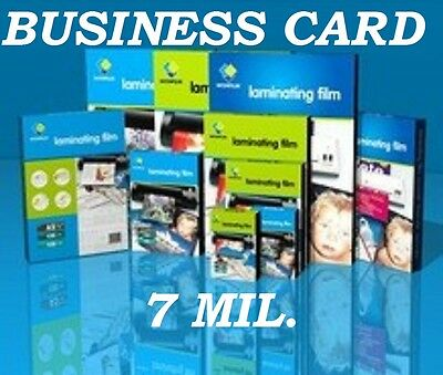 Ultra Clear Business Card 25 7 mil Laminating Laminator Pouches 2-1/4 x 3-3/4 CQ